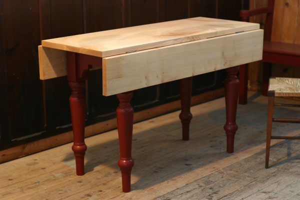 drop leaf table with sycamore top